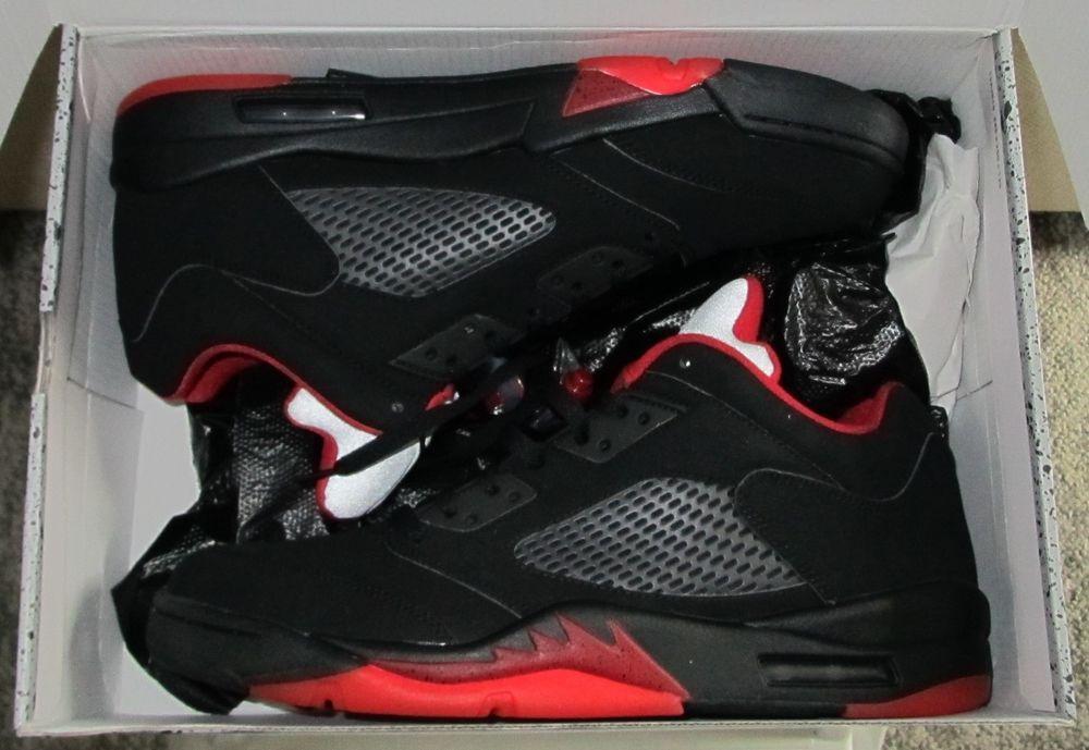 ec60e12ea50a6a Nike Air Jordan 5 Retro Low Alternate Black Gym Red Size 12 819171-001  (eBay Link)