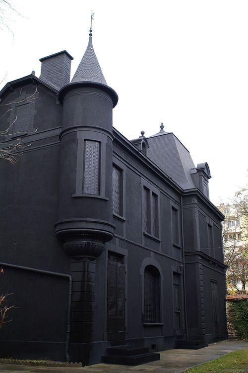 Dark Painted Fence
