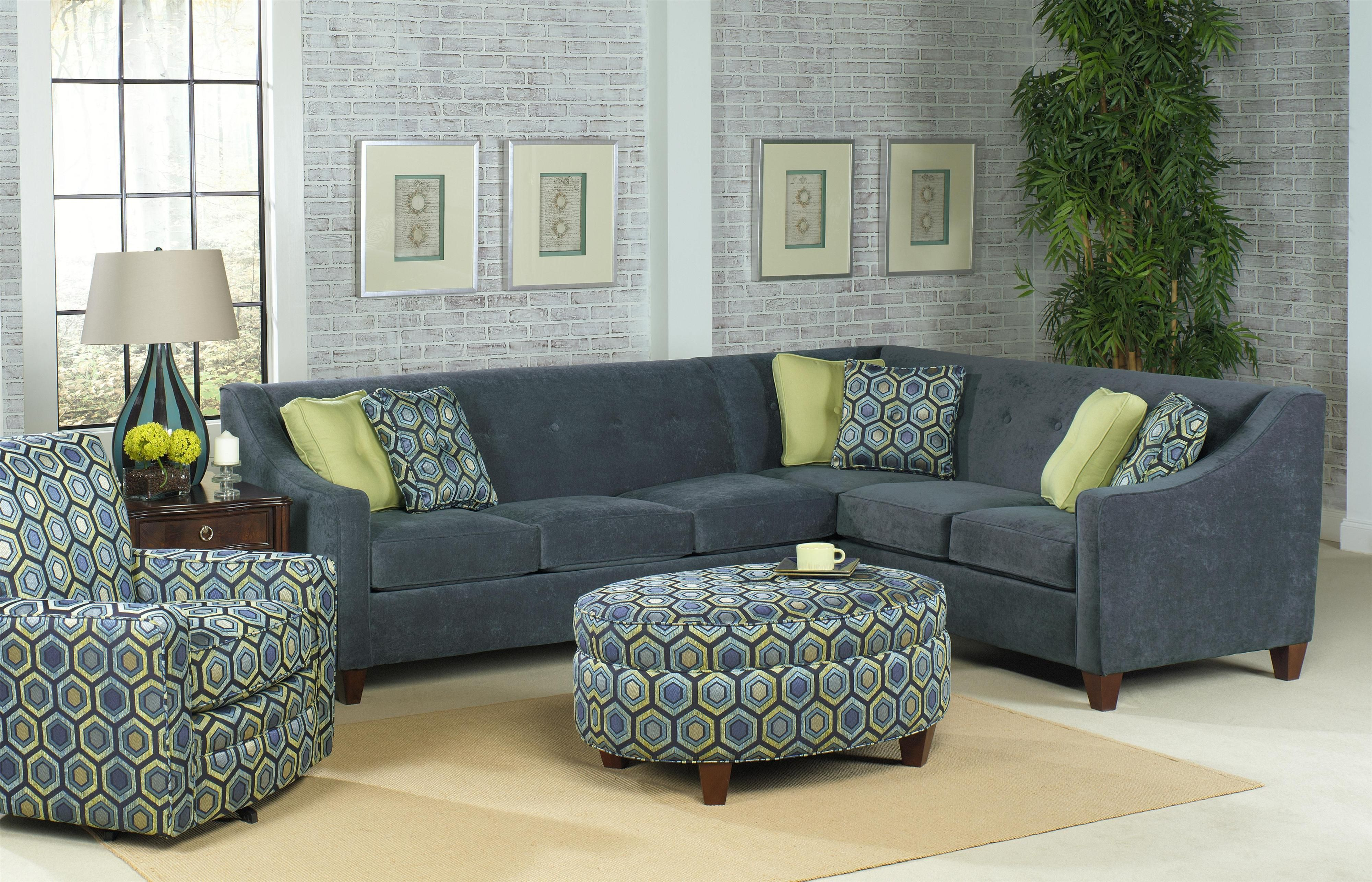Old Brick Furniture In Albany Ny Contemporary 2 Piece Sectional With Sloped Track Arms By Craftmaster Sofa Capital Region