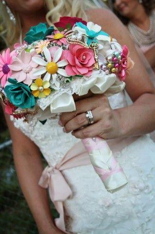 Wedding brooch bouquet bridal