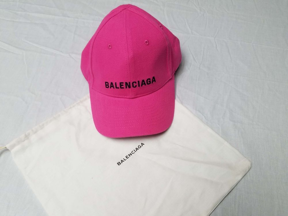 Balenciaga Baseball Cap Hat Pink with Black Embroidered Logo SS18  fashion   clothing  shoes  accessories  mensaccessories  hats (ebay link) a10a29e9bfe