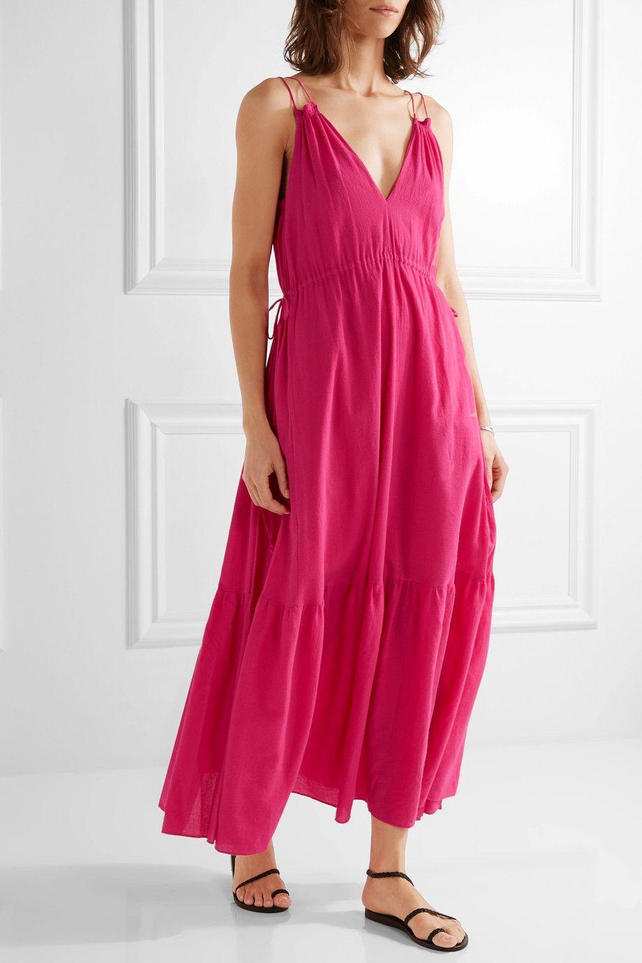 Apiece Apart Daphne Cotton Crepon Maxi Dress Net A Porter Com Dresses Daphne Dress Maxi Dress [ 1380 x 920 Pixel ]