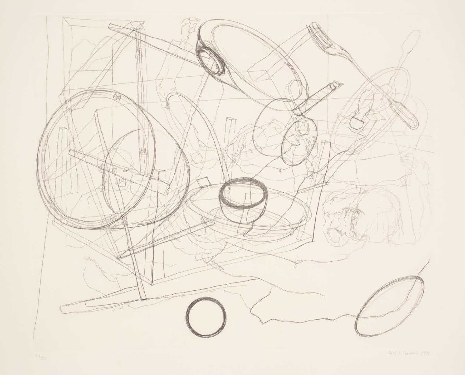 Bill Woodrow '[no title]', 1992   etching © Bill Woodrow
