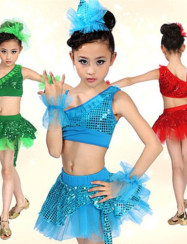 c653b334c Latin Dance   Ballet Outfits Spandex Sequin Natural   Performance ...