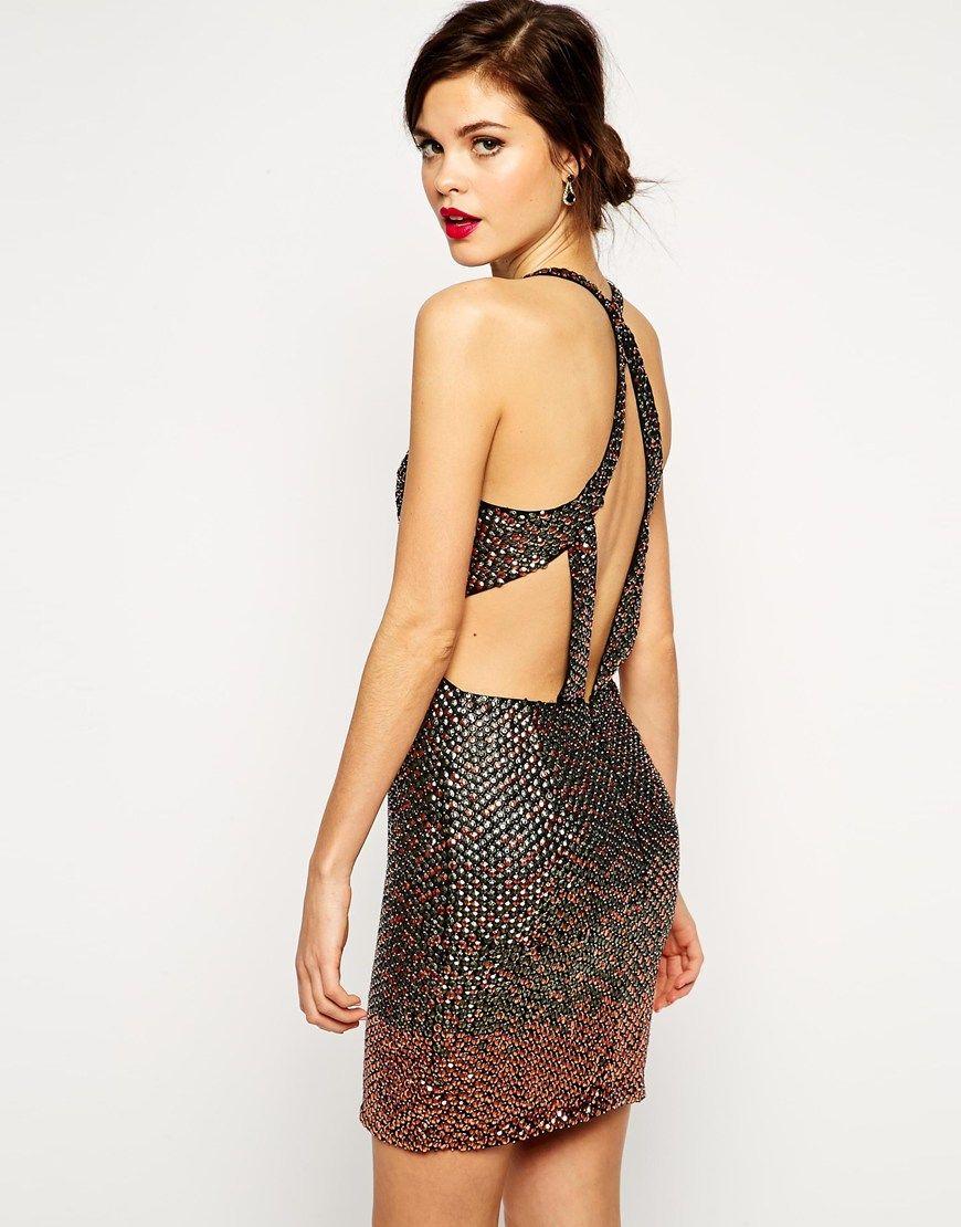 RED CARPET – Hochwertiges Kleid mit Pailletten | Rücken und Models