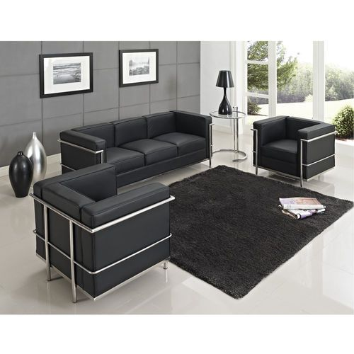MLF Le Corbusier LC2 Modern Armchair/Loveseat/Sofa (With