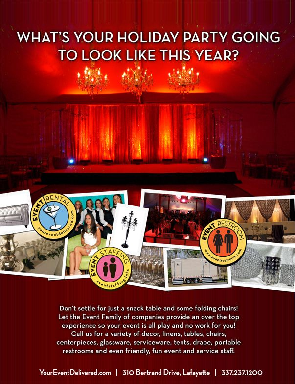 """a better holiday party"""" ad. 