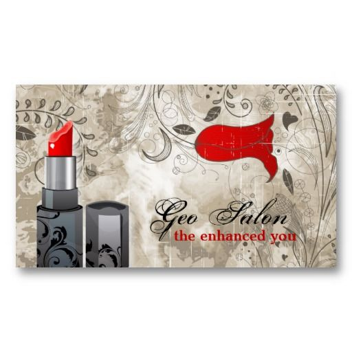 Red lipstick makeup artist salon business card red lipstick makeup red lipstick makeup artist salon business card this elegant spa and salon business card is great for makeup artists it has a fashionable vintage reheart Choice Image