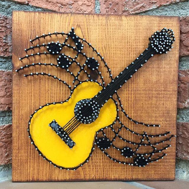Guitar String art | STriNg aRt | Pinterest | String art, Guitar ...