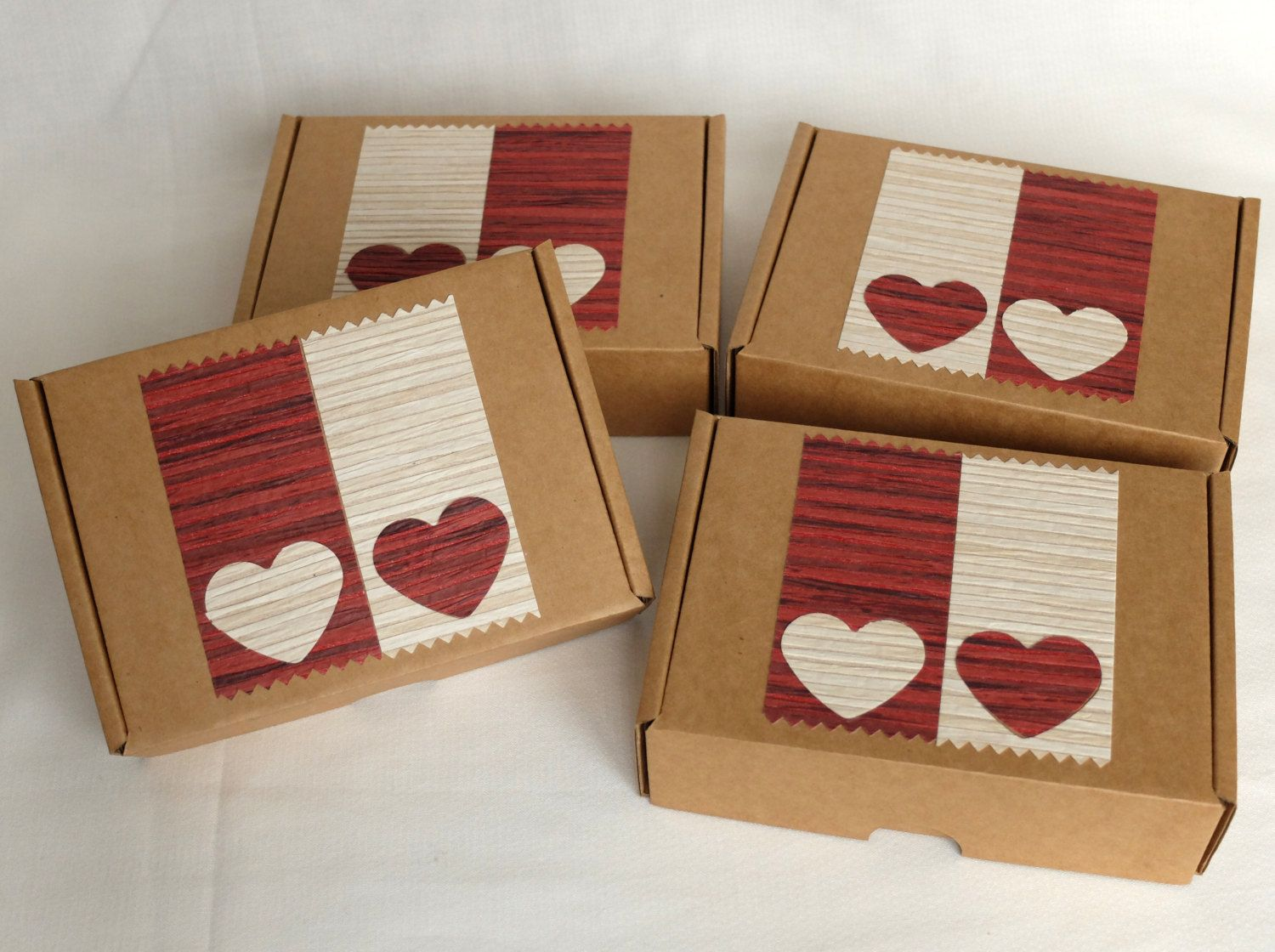 Decorated Gift Box Set Of 4 Valentines Day Gift Box Heart Gift Box Valentines Gift