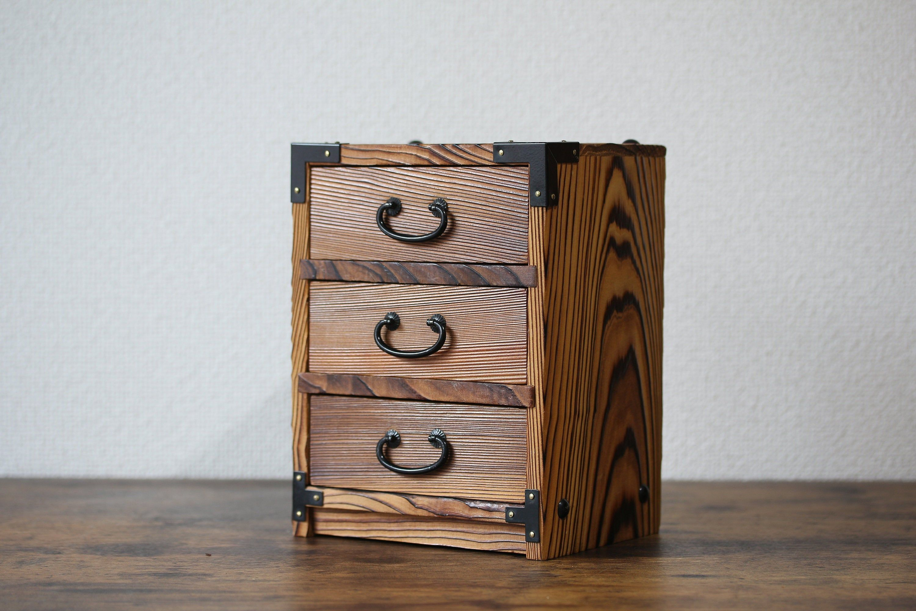Japanese Kodansu Small Wood Drawer Japanese Wooden Chest Wooden Storage Box Trinket Box Small Cabinet Jewelry Box Min Wooden Storage Wooden Chest Antique Boxes