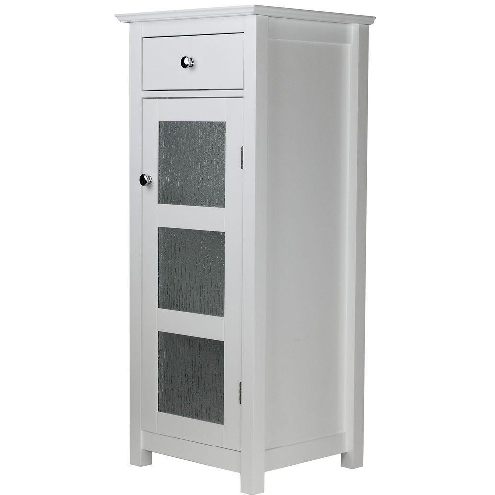 Free Standing Bathroom Cabinet White Storage Organizer Elegant Shelf Drawer Bath Eleganthome Bathroom Floor Cabinets Free Standing Cabinets Bathroom Furniture