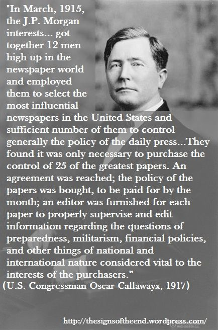 Did you know they've controlled the information in the news since early in the 1900's?  They tried with Obama Care as well, but social media got the truth out.  So, be sure they'll try to shut down social media very soon.