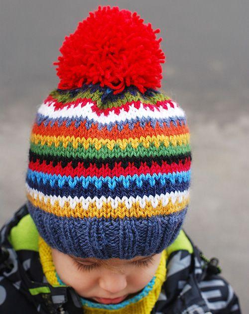 We Like Knitting Scrappy Ski Hat Free Pattern Knitting