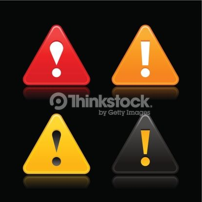 Triangle Warning Icon With Exclamation Mark Sign Red Orange