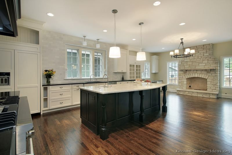 Black And White Traditional Kitchen 35 two tone kitchen cabinets to reinspire your favorite spot in