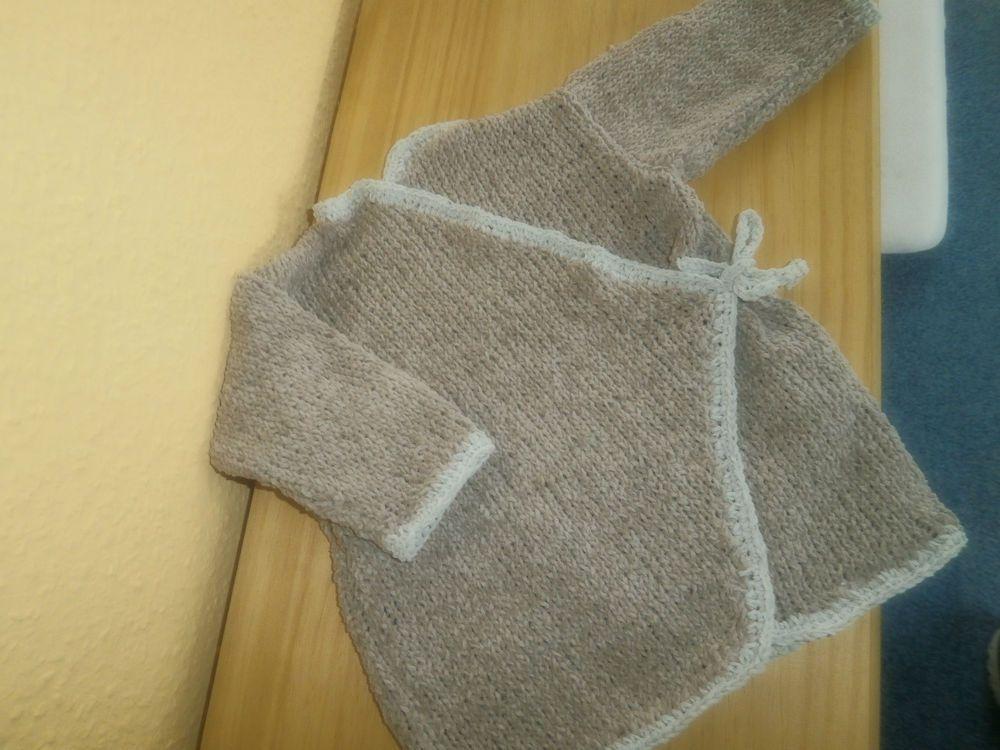 Jacke Gr 62 bis 68, modische Wickeljacke für Babys aus weichem ...
