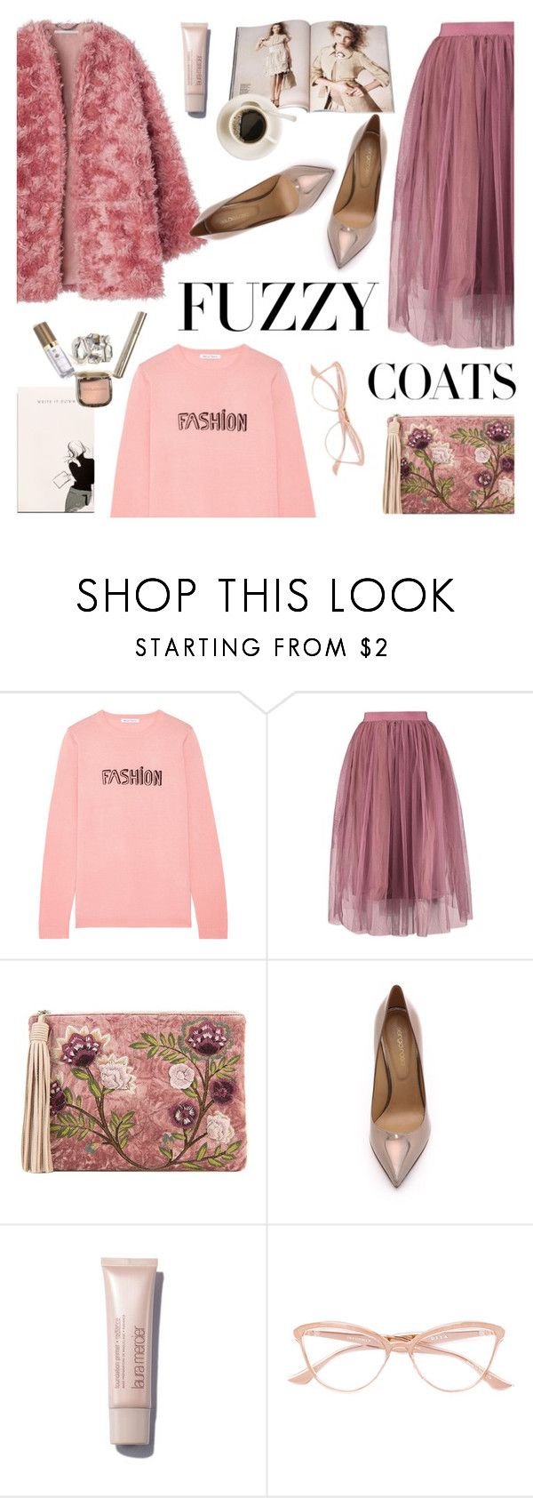 """""""Keep it Cozy: Fuzzy Coats"""" by helenevlacho ❤ liked on Polyvore featuring Bella Freud, Nude, Sam Edelman, Sergio Rossi, Dita, Garance Doré, contestentry and fuzzycoats"""