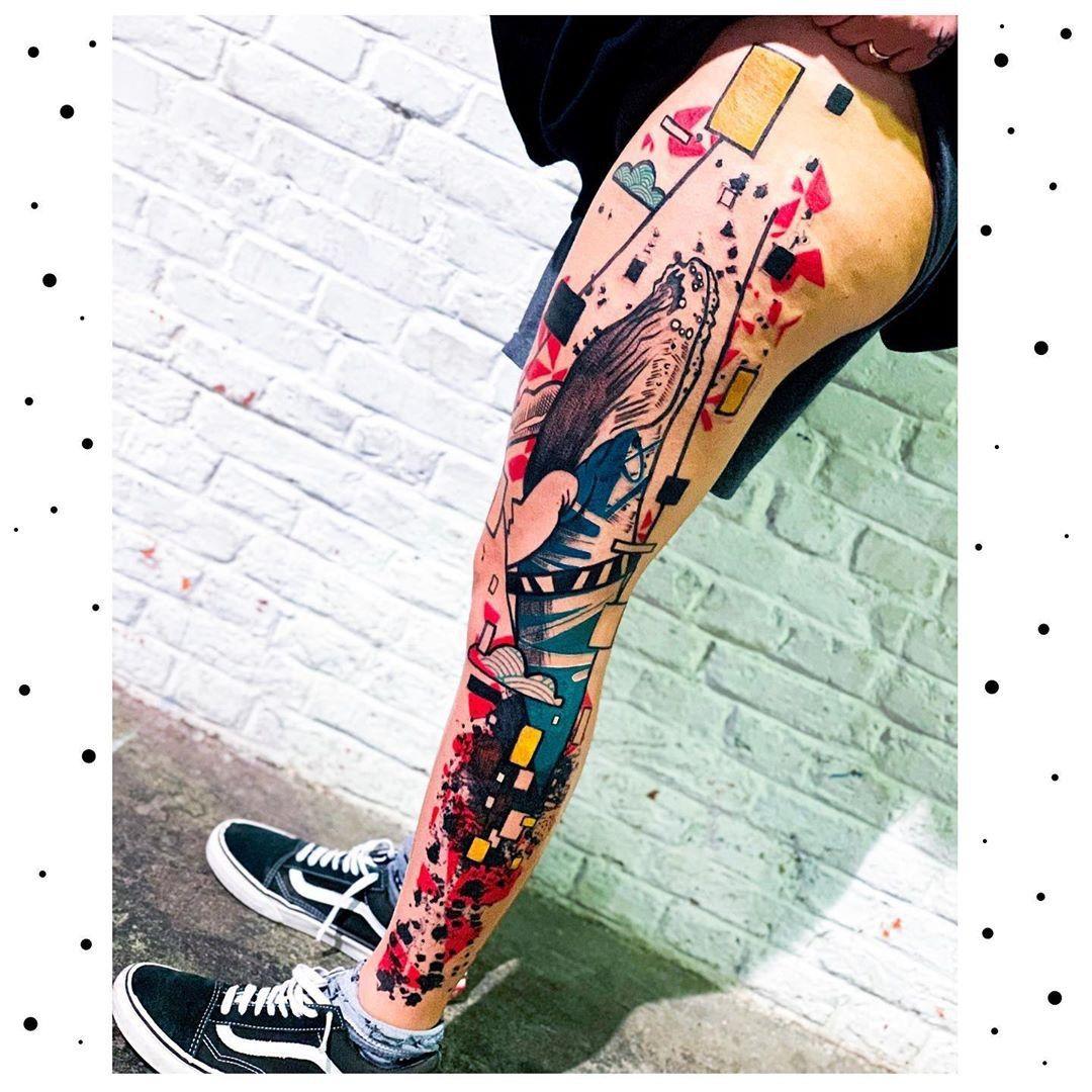 #europetattoo #tattooeurope #sleevetattoo #tattoosleeve #legsleeve