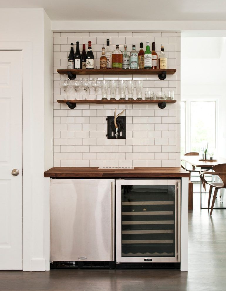 Undercounter Beer Keg Home Bar Contemporary With Dining Room Modern