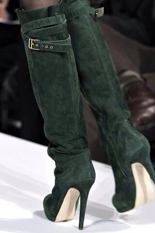 Amazing Tall Green Boots