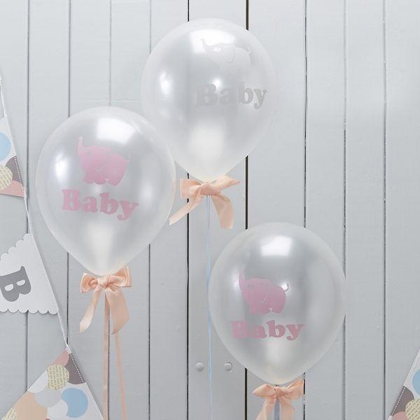 """Weiteres - 10 x Luftballons """"Baby Elephant"""" Geburt Babyparty - ein Designerstück von Lolima-Shop bei DaWanda"""