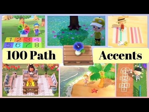 100 LATEST PATHS Custom Design Codes for Animal Crossing New Horizons (ACNH Patterns)
