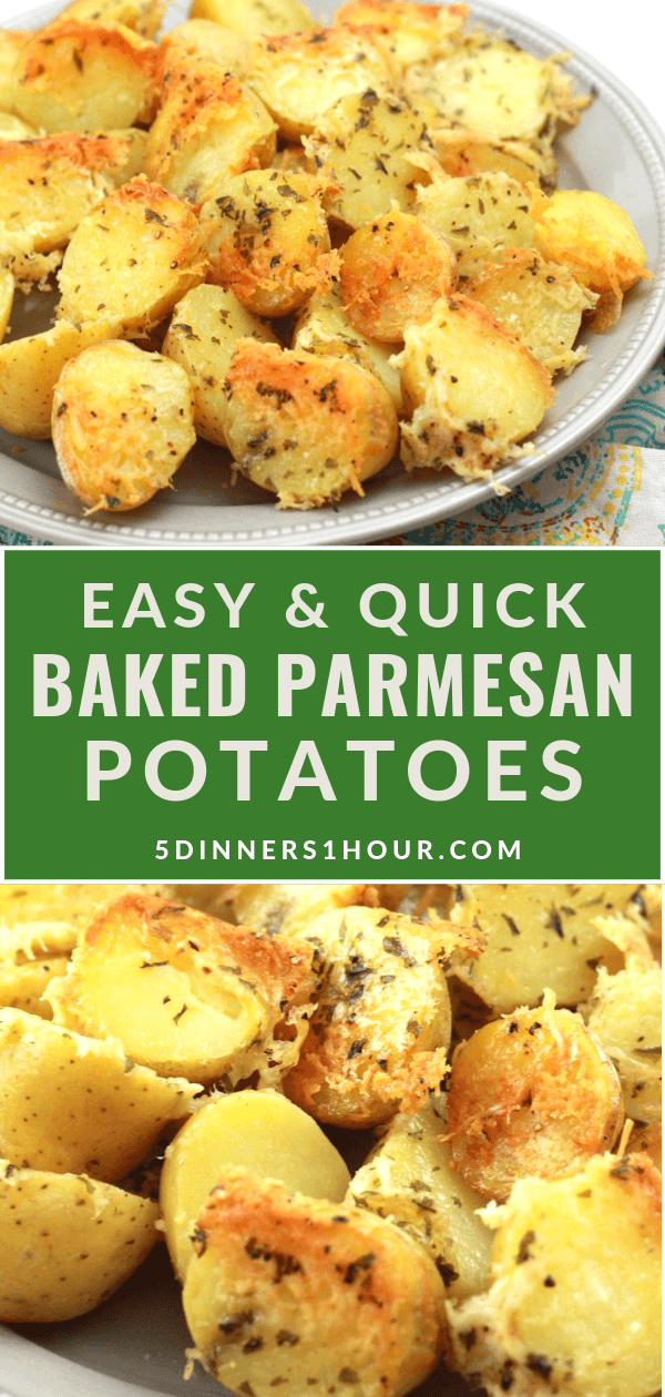 Simple Baked Parmesan Potatoes In 2020 With Images Easy Potato Recipes Easy Healthy Side Dishes Quick Potato Recipes