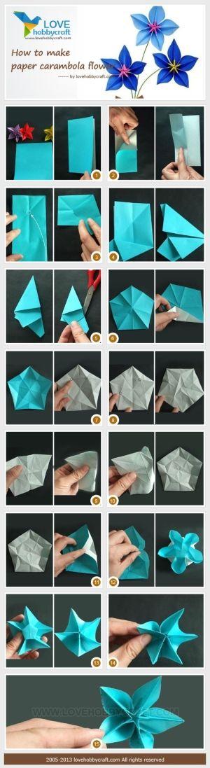 Carambola Flower By Ada123 Origami Flowers Origami Origami