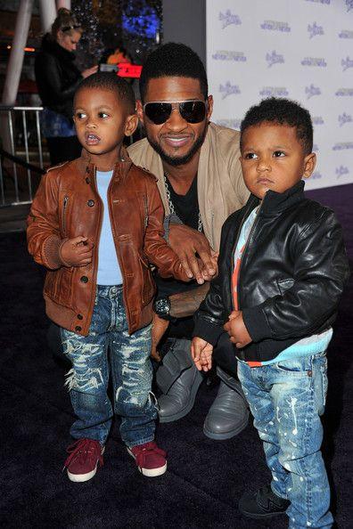 Usher Raymond V And Naviyd Raymond With Images Celebrity Dads