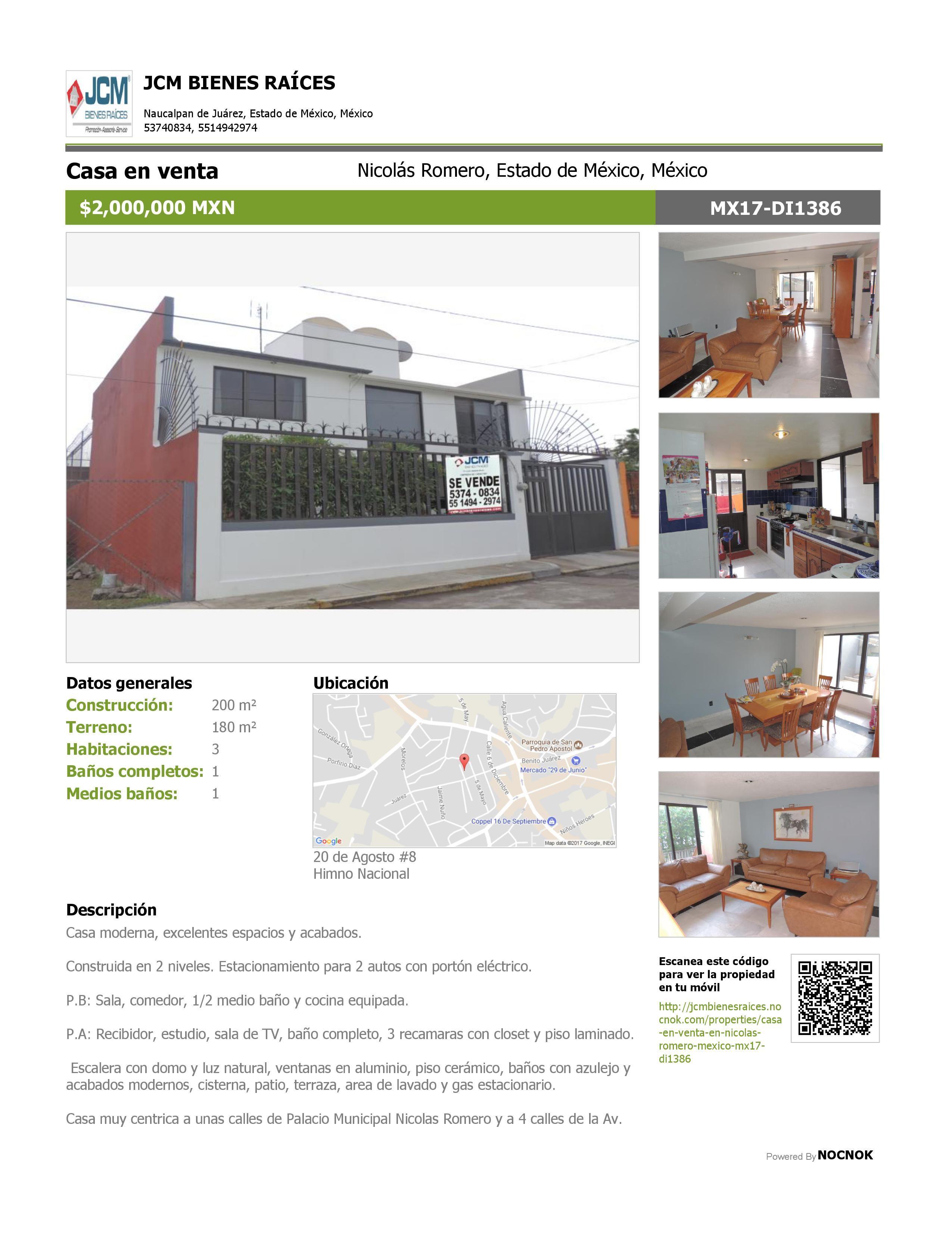 MX17DI1386 Casa en venta en Himno Nacional, Nicolas
