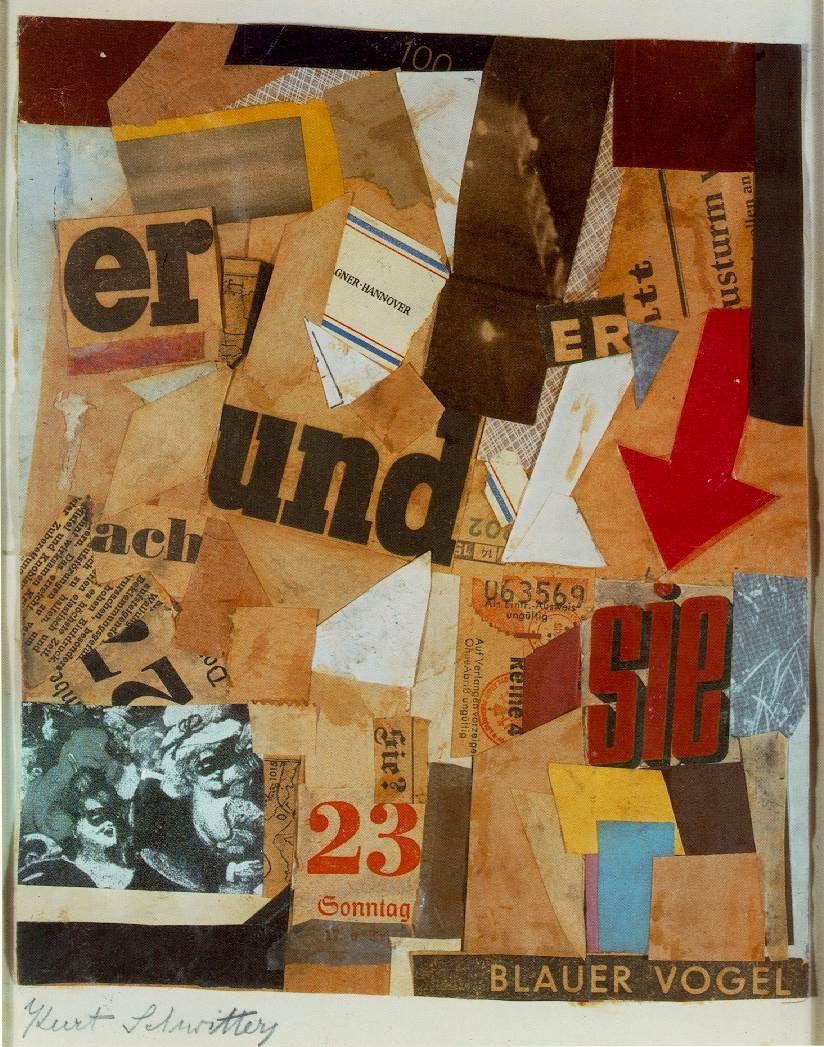 Schwitters: Blauer Vogel | Paper Art - Mixed Media | Pinterest ...
