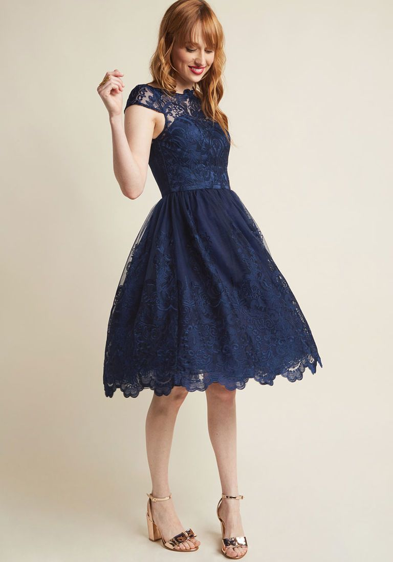 2d6871df741 Chi Chi London Exquisite Elegance Lace Dress in Midnight