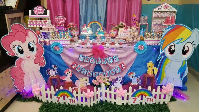 Table Decoration For Little Pony Birthday My Little Pony