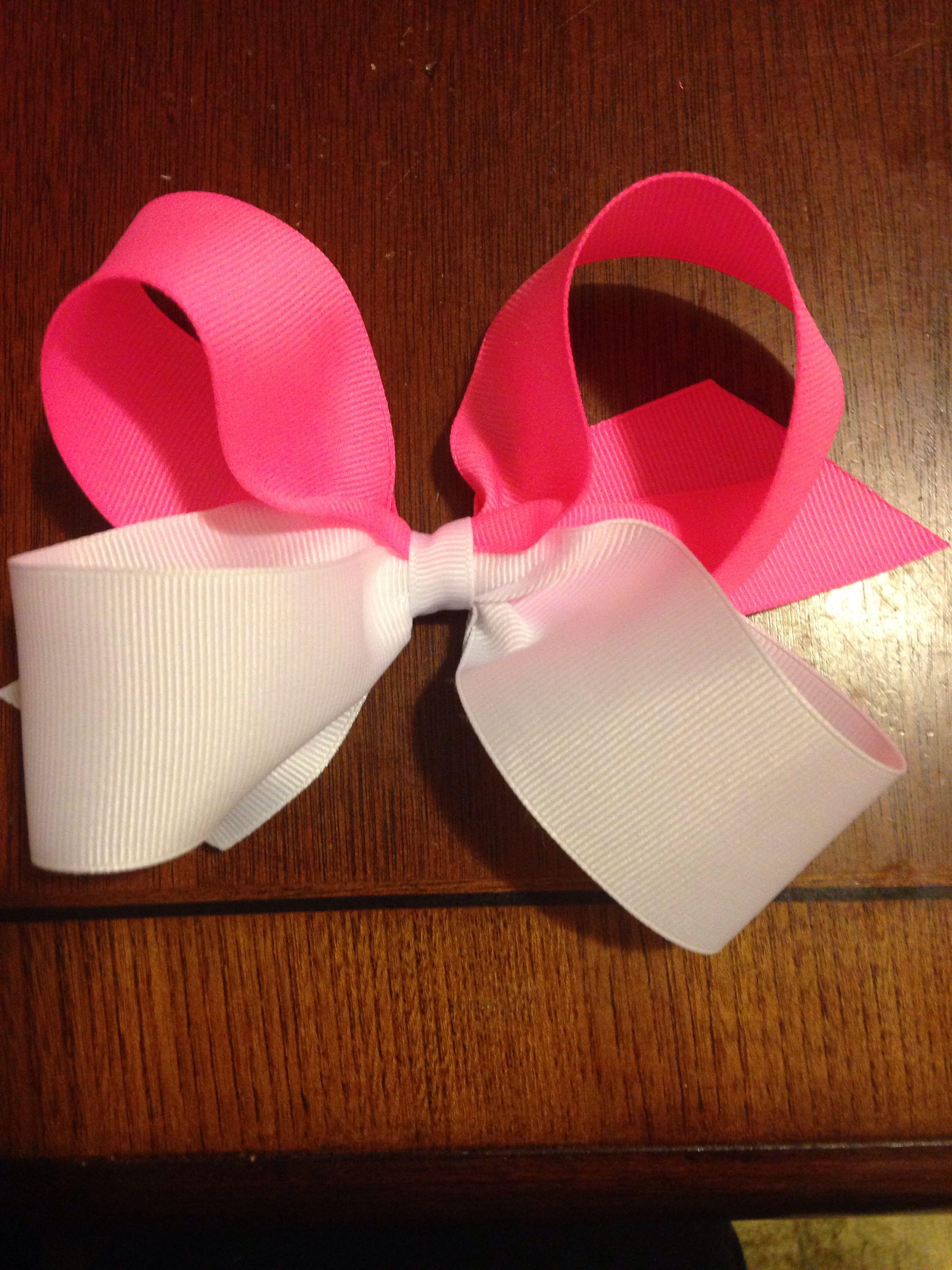 Made a cute pink hair bow