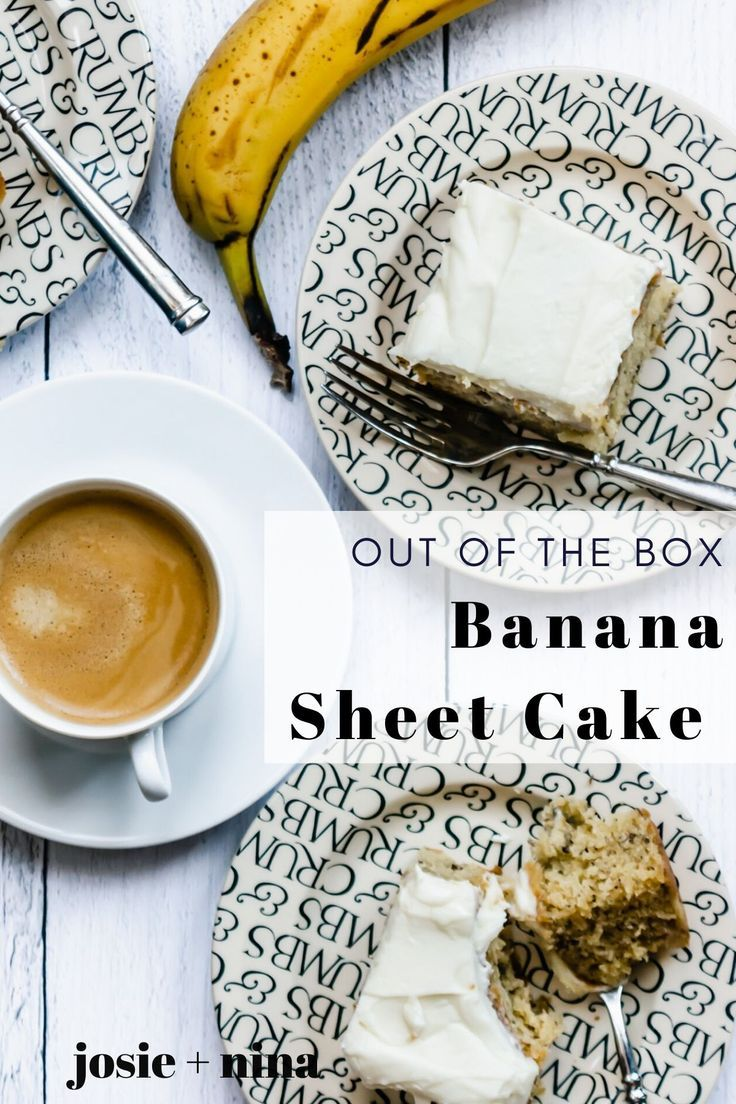 Banana sheet cake with cream cheese frosting recipe in