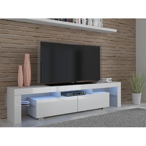 180cm Floating Wall Unit White /& Grey High Gloss TV Stand LED Entertainment Cabinet 7 Colours