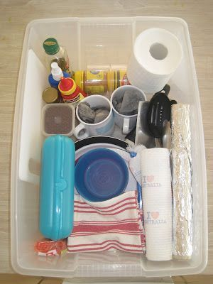 Photo of Week-long camping box – with a plastic container