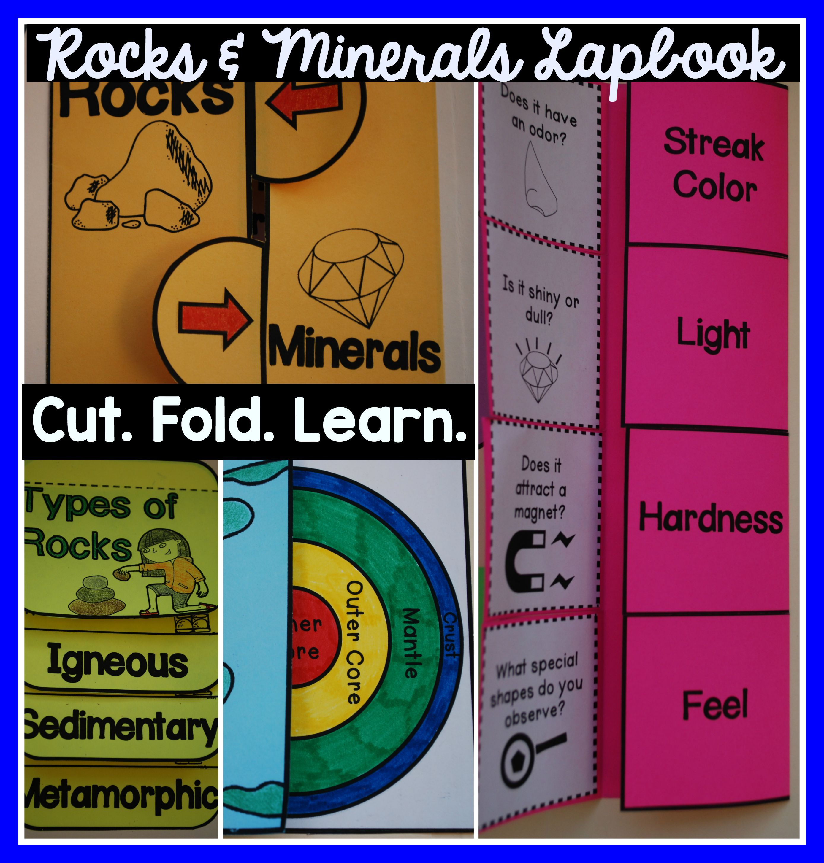 Rocks And Minerals Lapbook Interactive Kit