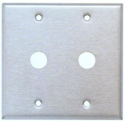Morris Products 2 Gang Coax Wall Plate Plates On Wall Metal Walls Stainless Steel Metal