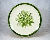 SALE- Jamestown Replacement Platter Dinnerware, Green Rose Vintage, USA- REDUCED 10% !!!