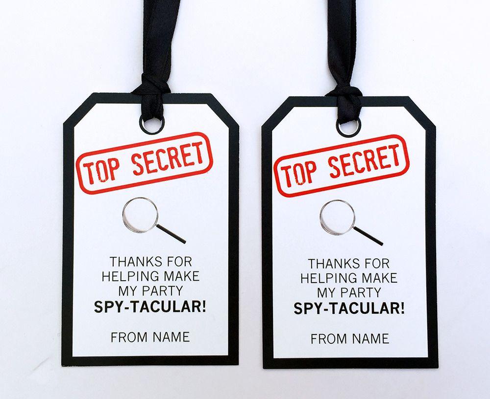 Spy Party Printables, Invitations & Decorations   Secret agent ...
