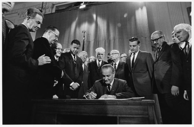 Image result for LBJ housing rights act 1968