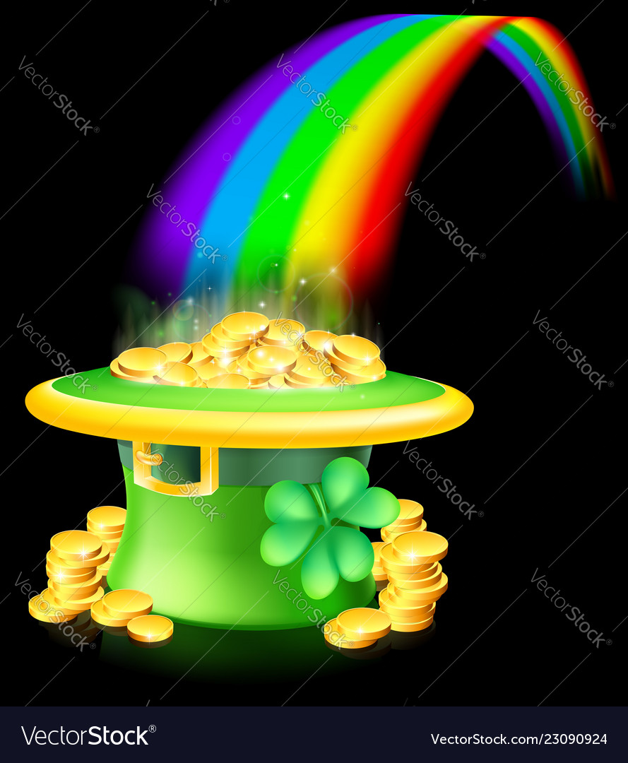 Gold at the end of the rainbow vector image on (Có hình ảnh)