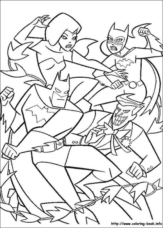 90s Cartoon Poison Ivy Batgirl Joker Batman 114 Coloring Picture