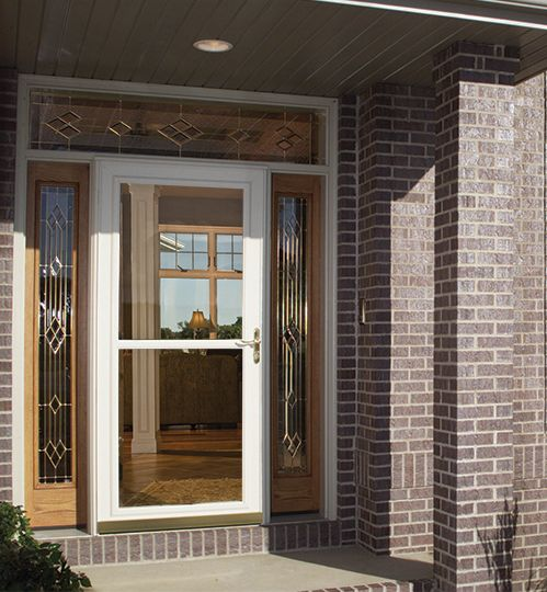 Protect your investment with a larson storm door entry for Front door with storm door