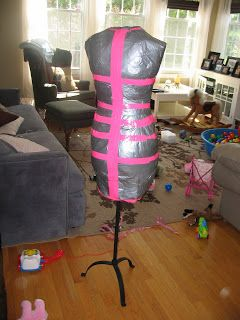 Samster Mommy: Duct Tape Dress Form Tutorial