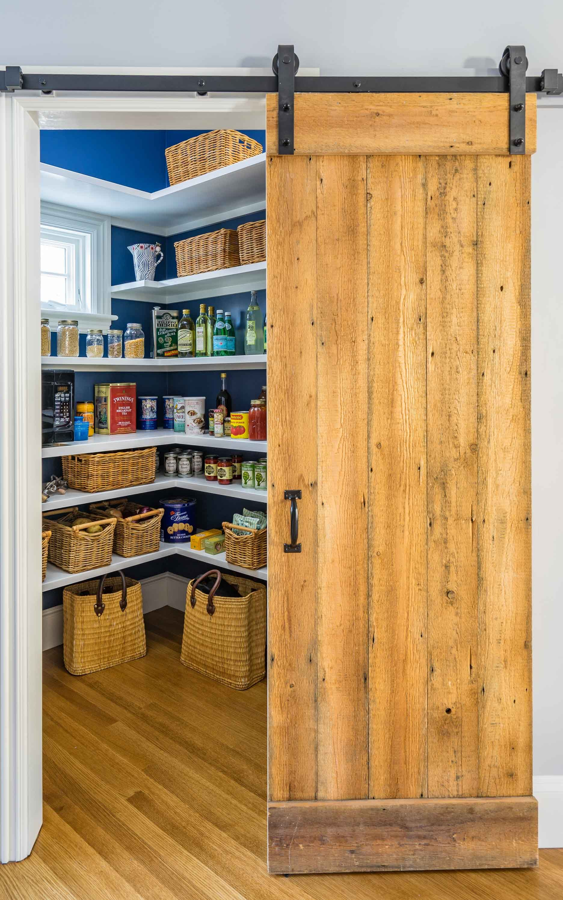 Pantry With Sliding Barn Door From Our Newton Project As Seen On