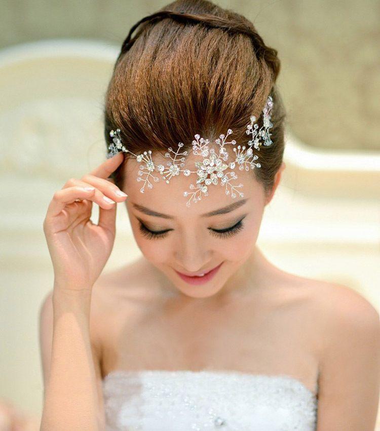 Heißer Verkauf Strass Handgemachte Blume Hochzeit Haarschmuck