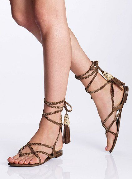 b0a4d821be893 Leather Ankle-wrap Sandal - Colin Stuart® - Victoria s Secret I NEED THESE  SANDALS FOR THE SUMMER!